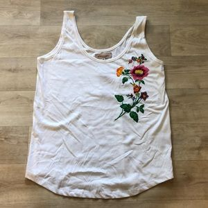 Philosophy Floral Embroidered Top